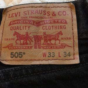 Levi's slim straight jeans color black